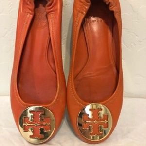 Tory Burch Reva Tangerine Flats Size 5.5